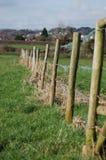 Fechten auf einem Dorset-Gebiet Stockfotos
