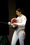 Fechten. Weltcup 2010. Aida Shanaeva Stockbilder