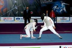 Fechten. Weltcup 2010. Heiliges-Petrsburg Stockfoto