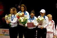 Fechten. Weltcup 2010. Italien-Team Lizenzfreie Stockbilder