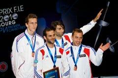 Fechten. Weltcup 2010. Siegerehrung Stockfoto