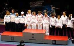 Fechten. Weltcup 2010. St Petersburg Lizenzfreies Stockfoto