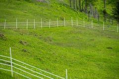 Fechtujący się corral na gospodarstwie rolnym obrazy royalty free