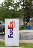 Fed Ex firma dentro Filadelfia fotografie stock