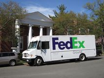 Fed Ex Ground. Photo of large fed ex ground delivery truck in washington dc on 4/3/12 on a nice spring day. Fed ex is one of the largest companies that offers stock images