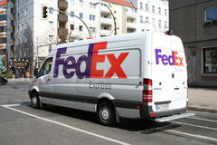 Fed Ex Van Royalty Free Stock Images