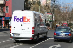Fed Ex Van Stock Photo