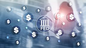 Free FED Federal Reserve System Usa Banking Financial System Business Concept. Royalty Free Stock Photography - 148800437