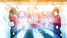 FED federal reserve system usa banking financial system business concept. royalty free stock photography
