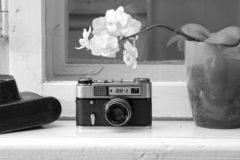 FED-5, macchina da presa sovietica fotografie stock libere da diritti