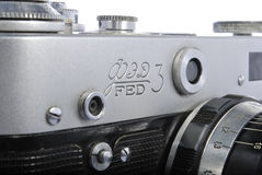 FED 3, Russian rangefinder. 35mm, industar 61 Royalty Free Stock Image
