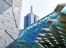 Fed square in Melbourne in Australia Stock Photos