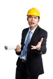 Fed up Asian engineer man Stock Image