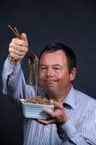 Fed up with chopsticks Stock Photos