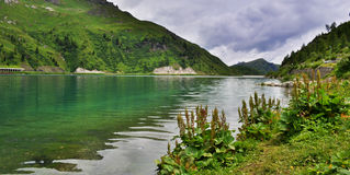 Fedaia水坝意大利 库存照片