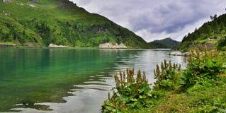 Fedaia Dam Italy Stock Photo