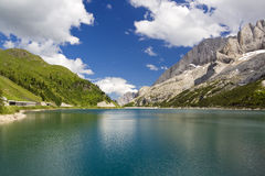 fedaia jezioro zdjęcia royalty free