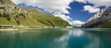 fedaia lago panorama obraz stock