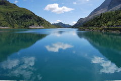 Fedaia lake Stock Photography