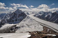 Fedchenko glacier in Tajikistan Stock Photo