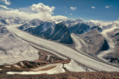 Fedchenko glacier in Tajikistan Stock Photography