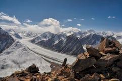 Fedchenko glacier in Tajikistan Royalty Free Stock Image
