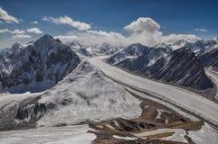 Fedchenko glacier in Tajikistan Royalty Free Stock Photo