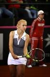 FedCup网球比赛乌克兰对加拿大 免版税库存照片
