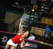 FedCup网球比赛乌克兰对加拿大 免版税库存图片