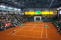 FedCup网球比赛乌克兰对加拿大 图库摄影