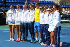 FedCup tenisa dopasowanie Ukraina vs Argentyna Zdjęcie Stock
