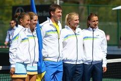 FedCup tenisa dopasowanie Ukraina vs Argentyna Obrazy Stock