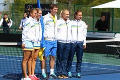 FedCup tenisa dopasowanie Ukraina vs Argentyna Obrazy Royalty Free