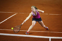 FedCup tennis game Ukraine vs Canada Royalty Free Stock Photography