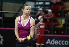 FedCup tennis game Ukraine vs Canada Royalty Free Stock Images