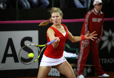 FedCup tennis game Ukraine vs Canada Royalty Free Stock Photos