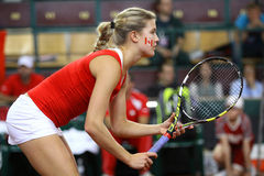 FedCup tennis game Ukraine vs Canada Royalty Free Stock Photo