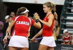FedCup tennis game Ukraine vs Canada Stock Photos