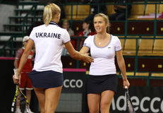 FedCup tennis game Ukraine vs Canada Stock Images
