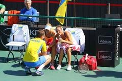 FedCup tennis match Ukraine vs Argentina Stock Image