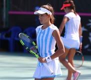 FedCup tennis match Ukraine vs Argentina Stock Photos