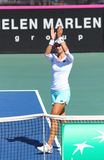 FedCup tennis match Ukraine vs Argentina Royalty Free Stock Photo