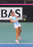 FedCup tennis match Ukraine vs Argentina. KYIV, UKRAINE - APRIL 16, 2016: Nadia Podoroska of Argentina in action during BNP Paribas FedCup World Group II Play stock images