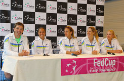 FedCup tennis match Ukraine vs Argentina Royalty Free Stock Image