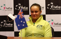 FedCup tennis: Ukraine v Australia in Kharkiv, Ukraine Stock Photos