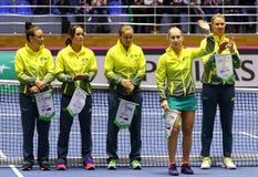 FedCup tennis: Ukraine v Australia in Kharkiv, Ukraine Royalty Free Stock Images