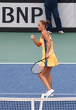 FedCup tennismatch Ukraina vs Argentina arkivbilder