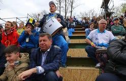 FedCup tennismatch Ukraina vs Argentina royaltyfria foton
