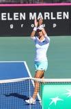 FedCup tennismatch Ukraina vs Argentina royaltyfri foto