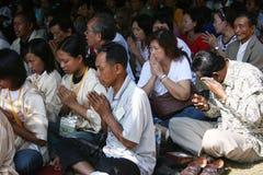 Fede di buddismo pregata insieme Immagini Stock Libere da Diritti